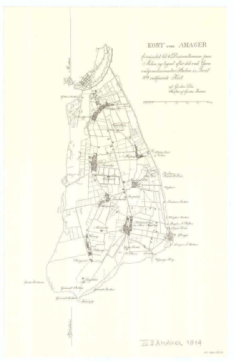 kort over amager